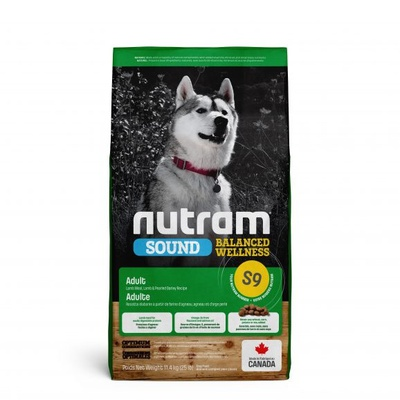 Nutram Adult Lamb Dog S9 11,4 kg en gratis Yak Cheese stick Small