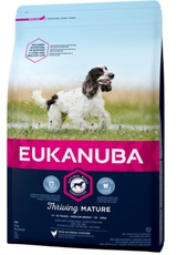 Eukanuba Thriving Mature Medium Breed Kip met een gratis artikel