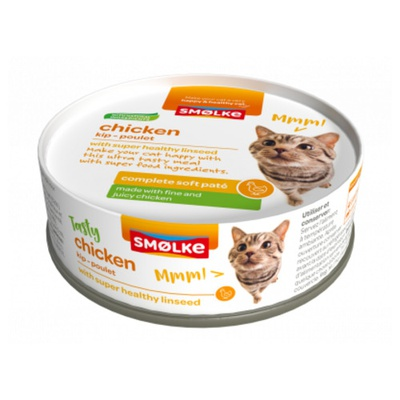 Smolke Soft Paté Turkey chicken 24x80 gram met 8%korting